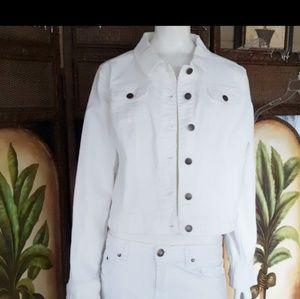 Elle White Jean jacket EUC